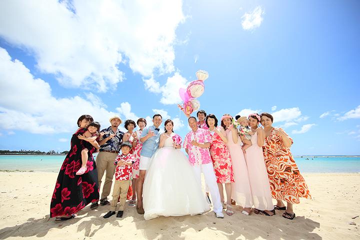 夢の海外挙式,リノハワイウェディングお客様の声,ファミリーフォト,心配,伝統的なハワイ挙式