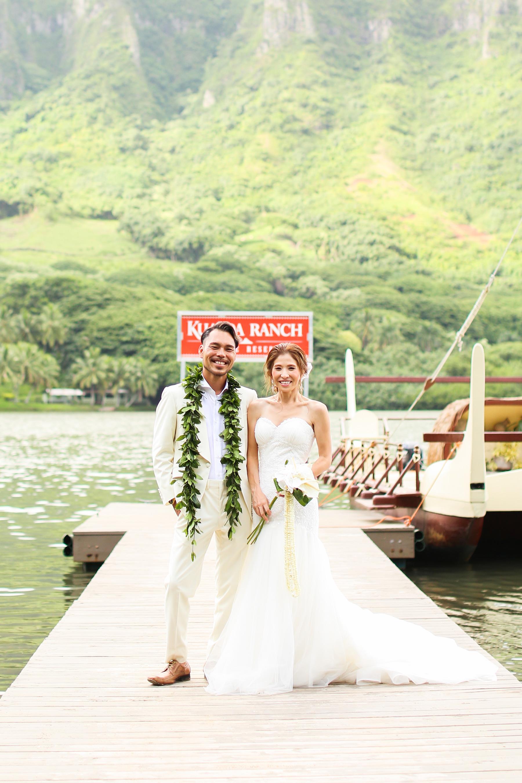 クアロア牧場の「モリイイガーデン」挙式ハワイウェディング,ハワイ婚,準備,チップのだし方