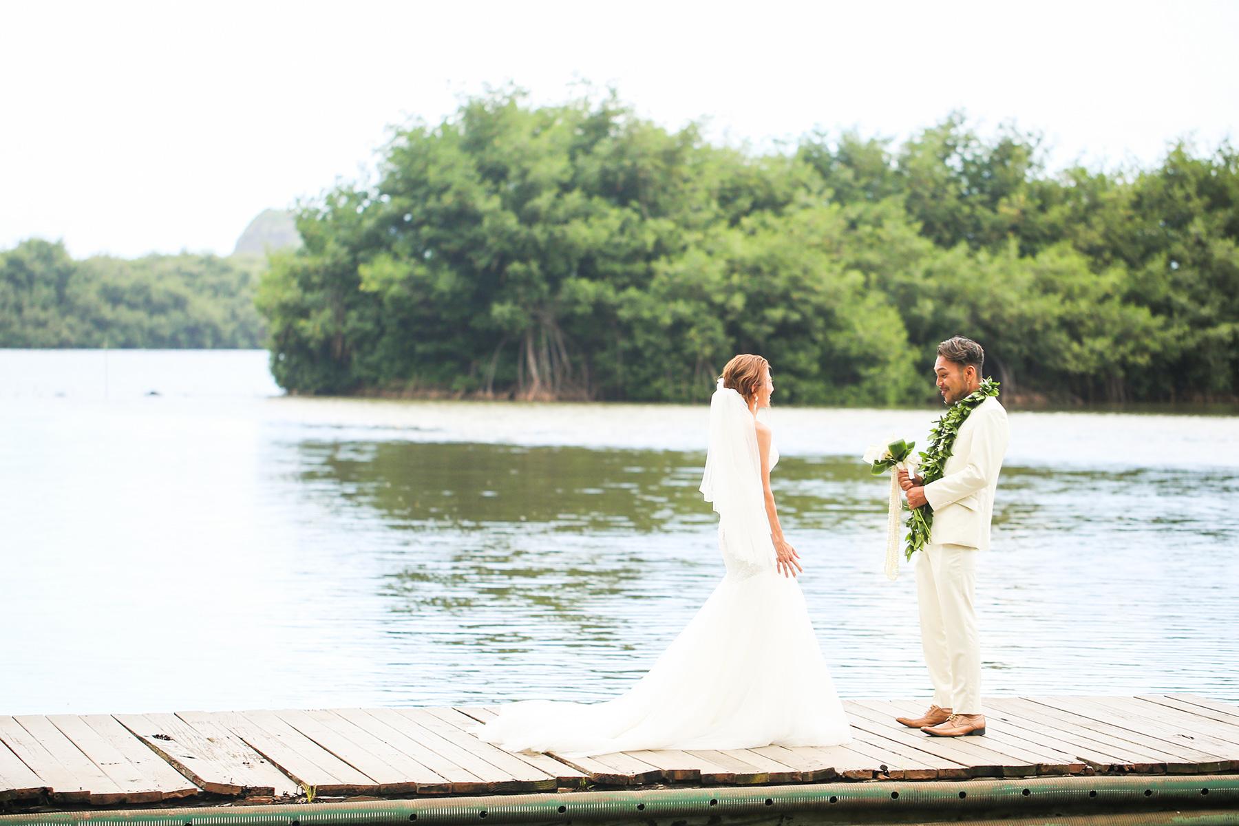 クアロア牧場の「モリイイガーデン」挙式ハワイウェディング,ハワイ婚,コーディネーター