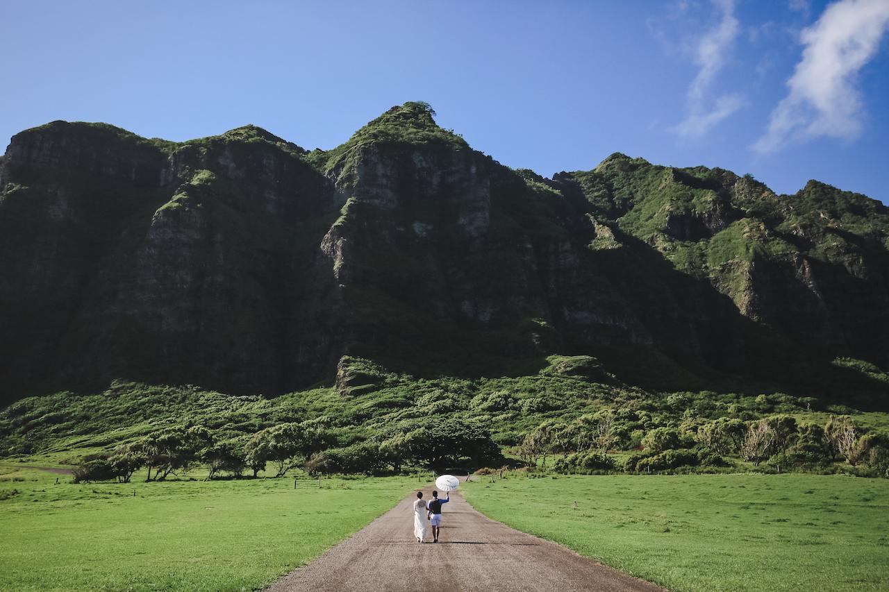 クアロア牧場,ドローン撮影,ハワイウェディング,ハワイ婚,プランナー,アパナミサ,ハワイ,ハワイ結婚式