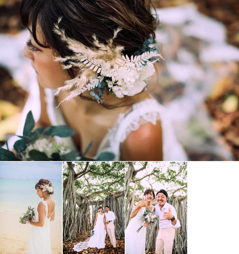 オーダードレス,ハワイウェディング,ハワイ結婚式,リノハワイ,ヘアメイクリハーサル