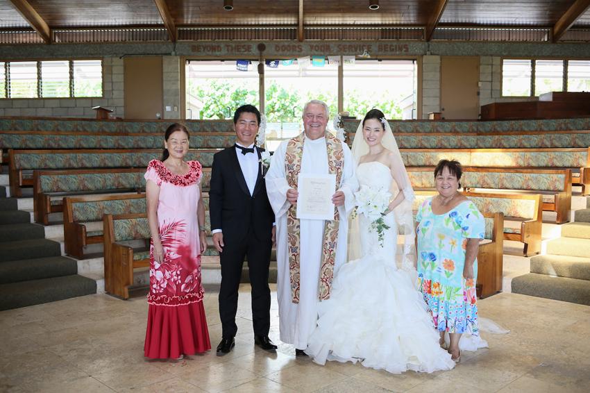 2人だけで挙式,子連れハワイ結婚式,ハワイウェディング,リノハワイ
